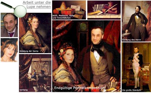 Portraitmalerei in Öl
