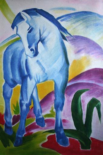 Franz Marc Gemäldereproduktion, Das blaue Pferd